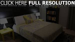 bedroom black white gray and yellow bedroom inspirational home