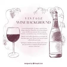 sketches wine vintage background vector free download