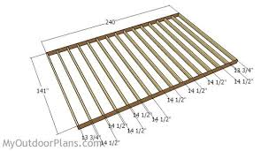 how to frame a floor 12x20 shed plans myoutdoorplans free woodworking plans and