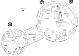 green house floor plan two roundhouses with greenhouse earthbag house plans