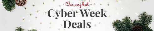 cyber week deals collage