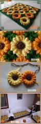 Sunflower Rugs бабушкин квадрат Crochet Afghans And Blanket