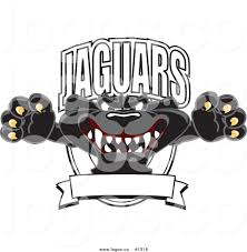 jaguar logo royalty free vector logo of a cartoon black jaguar mascot