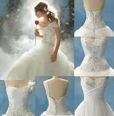 one shoulder disney princess wedding dress with corset sang maestro