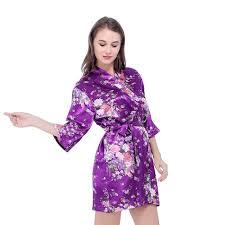 robe de chambre en satin pour femme robe de chambre pour les femmes satin de soie robe floral de