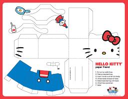 free printable kitty paper toy free printables