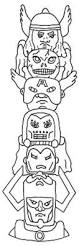 the avengers totem poles coloring page netart