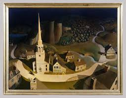painted wood artwork the midnight ride of paul revere grant wood 50 117 work of