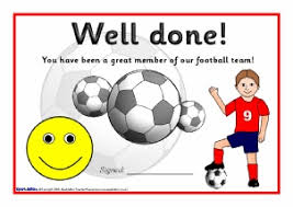primary sports clubs printable resources certificates