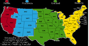 Map Of Illinois With Cities Map Of Us Time Zones With Cities Illinois Time Zone Usa Map With