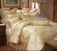 Cream Bedding And Curtains 9 Piece Gold Imperial Comforter Set