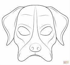 Halloween Printable Masks Templates by Mouse Mask Template Halloween Masks Dog Mask Coloring Page Free