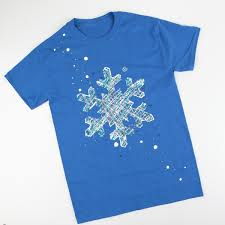 let it snow snowflake t shirt ilovetocreate