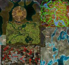 Gw2 World Map woodland cascades guildwars2