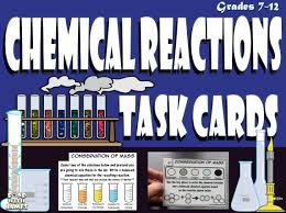 students identify the four different types of chemical reactions