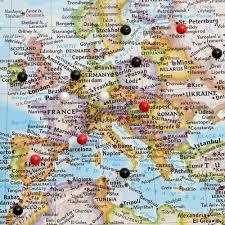 Cordoba World Map by Classsic World Travel Map Push Pin Travel Maps