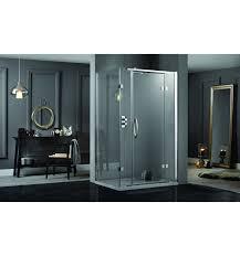 Shower Hinged Door Aquadart Inline 2 Sides Hinge Door Frameless Rectangular Shower
