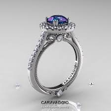 2 carat white gold engagement ring caravaggio 14k white gold 2 0 ct chrysoberyl alexandrite