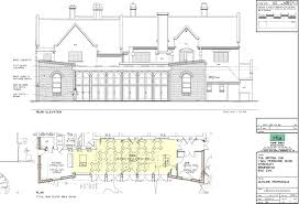 commercial plan design 2g building services plan design and rear elevation for a restaurant extension to a pub in a listed building