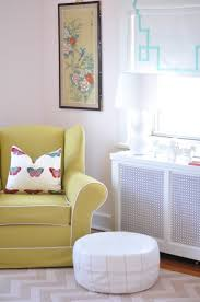 cream wingback nursery glider design ideas