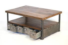industrial coffee table with drawers the most interesting industrial coffee tables coffee table review