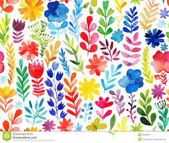 floral decor vector pattern with flowers and plants floral decor original