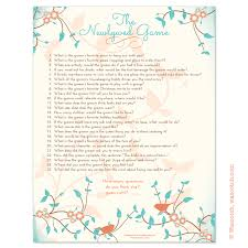 bridal shower question instant downloadable bridal shower that you can print at
