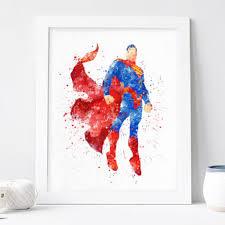 superman poster watercolor superhero wall art printables dc superman poster watercolor superhero wall art printables dc comics marvel nursery print kids bedroom baby giclee download