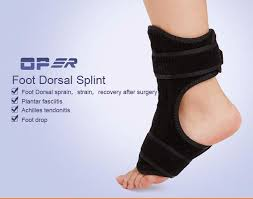 Planters Fasciitis Brace by Oper Professional Medical Foot Drop Ankle Brace Support Breathable