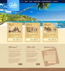 website template 35103 globe travel agency custom website
