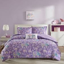 Full Xl Comforter Sets Lavender Purple Elephant Bedding For Girls Twin Xl Full Queen