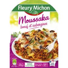 plat cuisiné fleury michon fleury michon fleury moussaka 300 g 300 g auchan direct