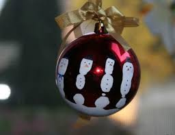 Very Large Christmas Ball Ornaments by Five Fingers Snowman Ornament Allfreechristmascrafts Com