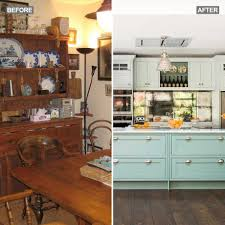 before and after a kitchen extension went from the darkness to