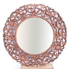 wall decorative mirrors hand made with wood by balinese artisans