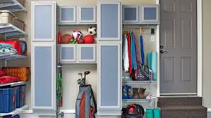kitchen storage cabinets lowes create diy garage storage with customized stock cabinets