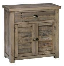 jofran 940 13 reclaimed pine accent chest w 2 doors u0026 1 drawer