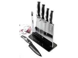 Coloured Kitchen Knives Set The Ex Knife Set Judge Knife Block Set Acrylic Black Coloured