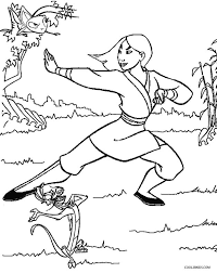 printable mulan coloring pages kids cool2bkids