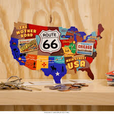 Route 66 Map by Route 66 Usa Road Map Metal Tabletop Sign Garage Decor