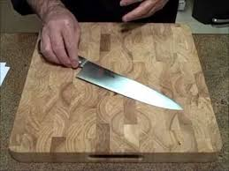 sharpening kitchen knives with a knife sharpening stropping your kitchen knives