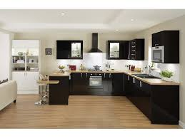 cuisine noir étourdissant cuisine et bois et cuisine noir plan de travail