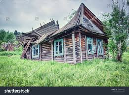 old small abandoned ruinous country house stock photo 198641123
