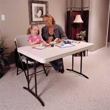 lifetime folding tables 4 amazon com lifetime 22645 commercial folding table 4 feet almond