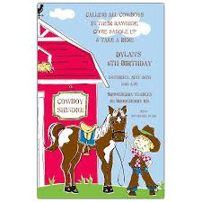 buckeroo cowboy birthday invitations paperstyle