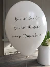 dove funeral remembrance balloons for memorial or