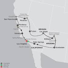 Solvang Map Usa West Coast Tours Vacations Packages Holidays Cosmos