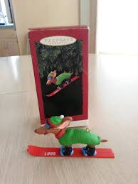 hallmark keepsake ski hound dachshund ornament from 1995