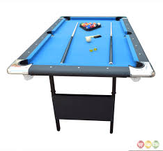 blue fairmont 6 ft portable folding pool table w carrying case ebay