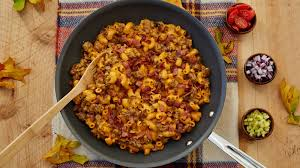 bacon venison cheeseburger macaroni recipe bettycrocker com